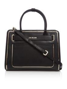 Love Moschino Belt black medium tote bag