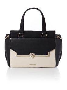 Love Moschino Heart lock black medium tote bag