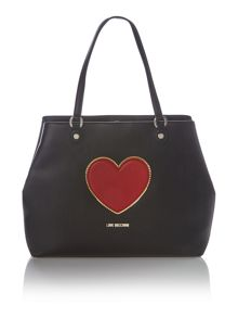 Love Moschino Black heart tote bag