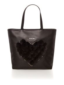 Love Moschino Pom Pom black tote bag