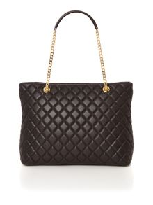 Love Moschino Superquilt black chain shoulder tote bag