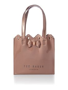Ted Baker Idacon rose gold cutout small tote bag