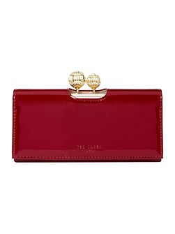 Kimmiko red large patent flapover purse