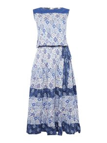 BRAINTREE Tile print maxi dress
