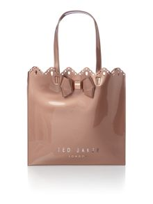 Ted Baker Belacon rose gold cutout large tote bag