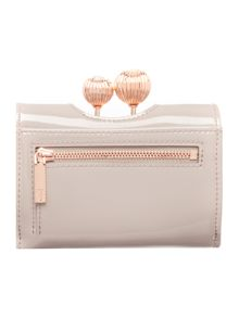 Ted Baker Julissa taupe small patent flapover purse