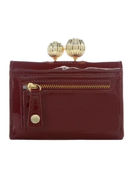 Ted Baker Julissa red small patent flapover purse