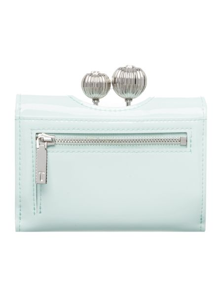 Ted Baker Julissa mint green small patent flapover purse