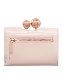 Ted Baker Sondra light pink small matt flapover purse
