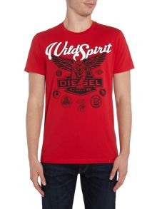 Diesel Regular Fit Wild Spirit Tiger Print T Shirt