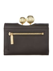 Ted Baker Sondra black small matt flapover purse