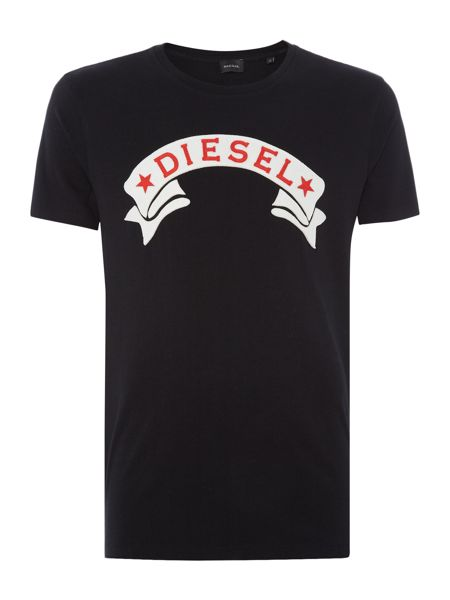 Diesel Regular fit Diesel star banner t shirt