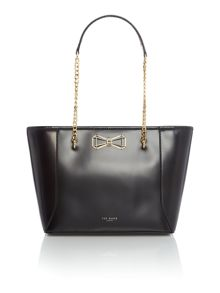 Ted Baker Jalie black bow tote bag