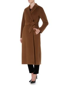 Max Mara Genarca long sleeve belted wool coat