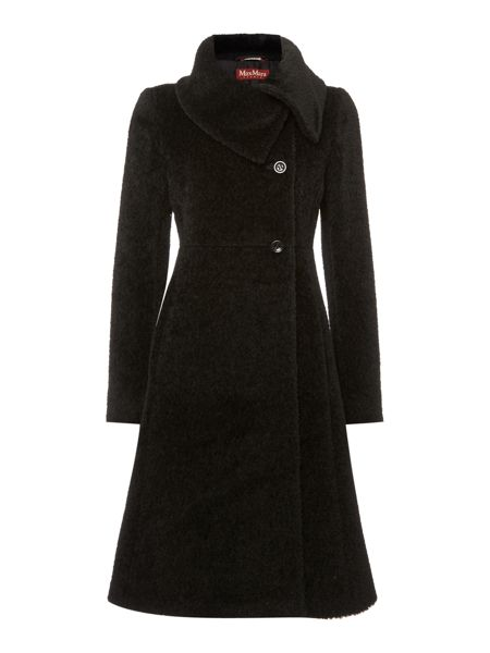 Max Mara Cloro open collar alpaca dress coat