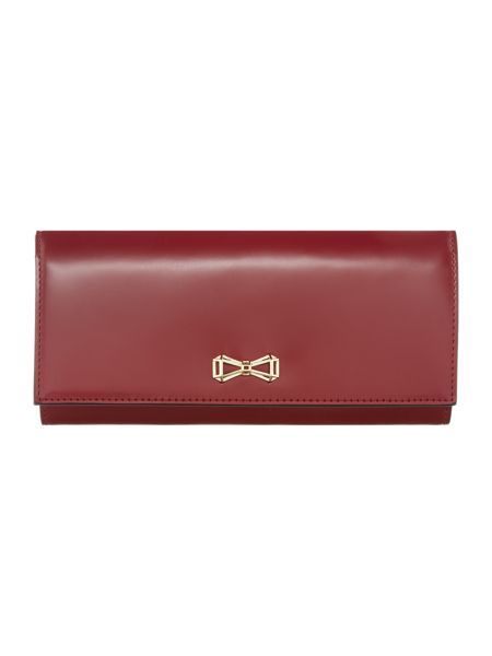 Ted Baker Emerize red bow flapover purse