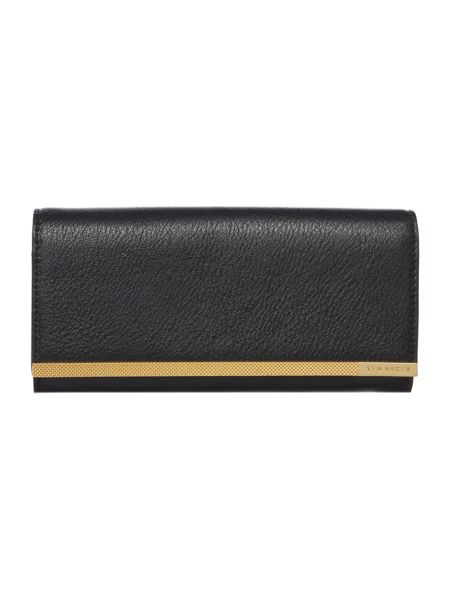 Ted Baker Calanra black large flapover purse
