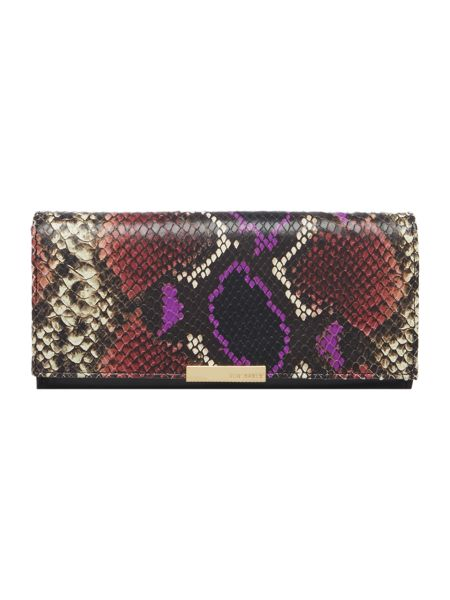 Ted Baker Lilibet multicolour large flapover purse