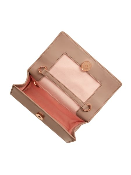 Ted Baker Aelia taupe bow clutch bag