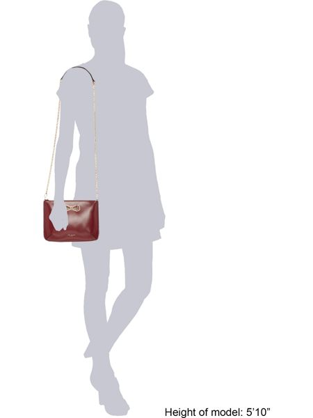 Ted Baker Gretaa red bow crossbody bag
