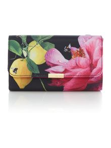 Ted Baker Kaylor multi-colour floral clutch bag