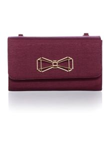 Ted Baker Megghan red clutch bag