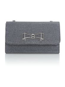 Ted Baker Traynor grey glitter clutch bag