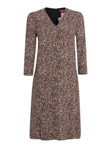 Max Mara Maesa 3/4 sleeve printed dress