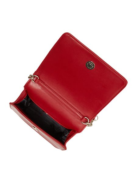 Love Moschino Belt red small flapover shoulder bag