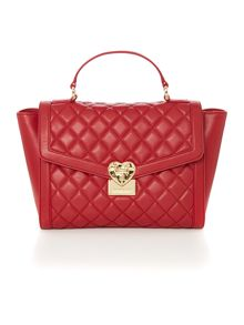 Love Moschino Superquilt red medium tote bag