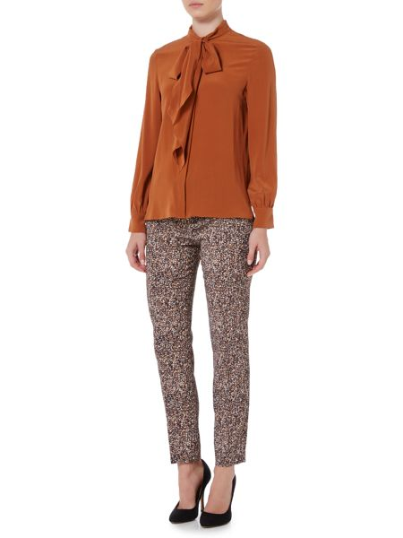 Max Mara Maldive long sleeve silk pussy bow blouse