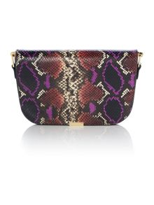 Ted Baker Melaney multi-colour snake skin shoulder bag