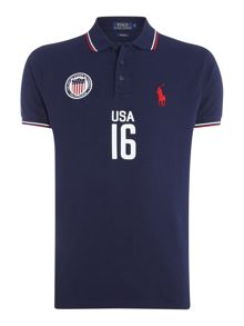 Polo Ralph Lauren Custom Fit USA mesh polo