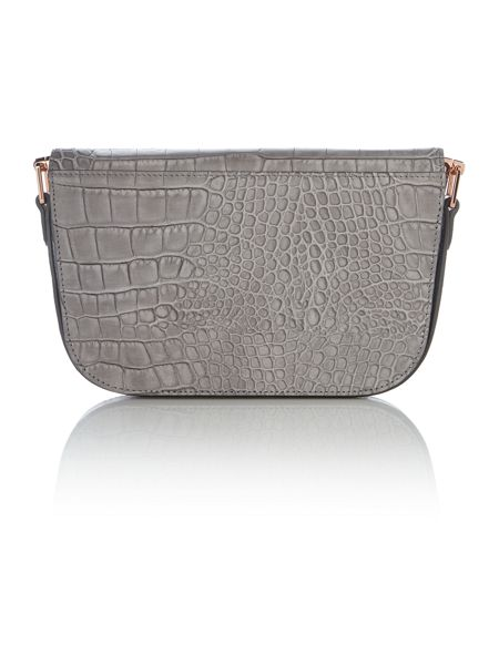 Ted Baker Melaney grey snake skin shoulder bag