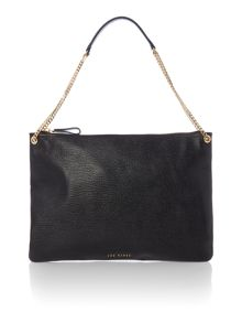 Ted Baker Chaini black flat shoulder bag