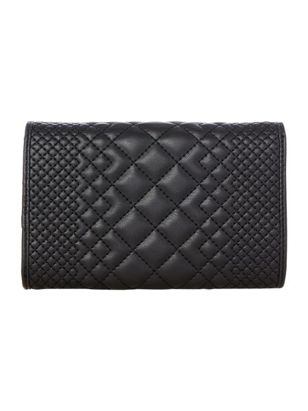 Love Moschino Embroidery quilt flapover purse