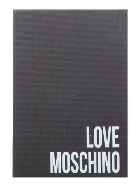 Love Moschino Embroidery quilt ivory flapover purse