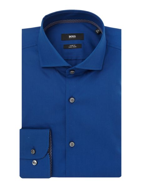Hugo Boss Jery Plain Weave Trim Shirt