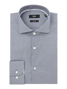 Hugo Boss Jery Fine Gingham Shirt with Trim