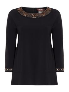 Max Mara Flavio long sleeve embellished cuff top