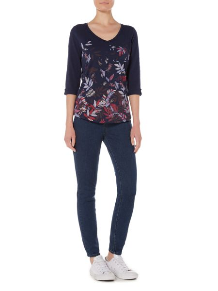 Dickins & Jones Vanessa V Neck Printed Jersey Top