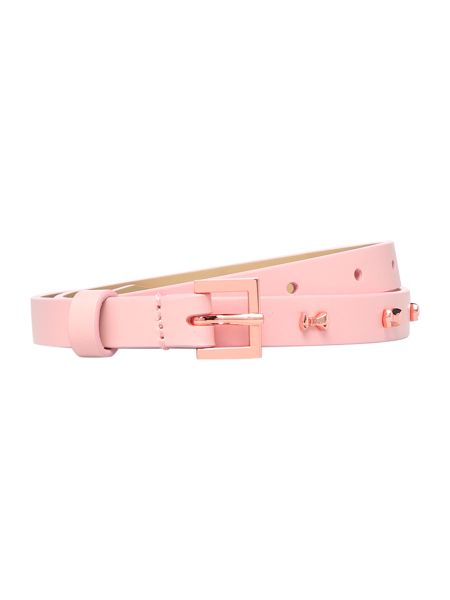 Ted Baker Aileen light pink micro bow belt