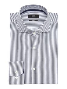 Hugo Boss Jery Bengal Stripe Shirt with Trim