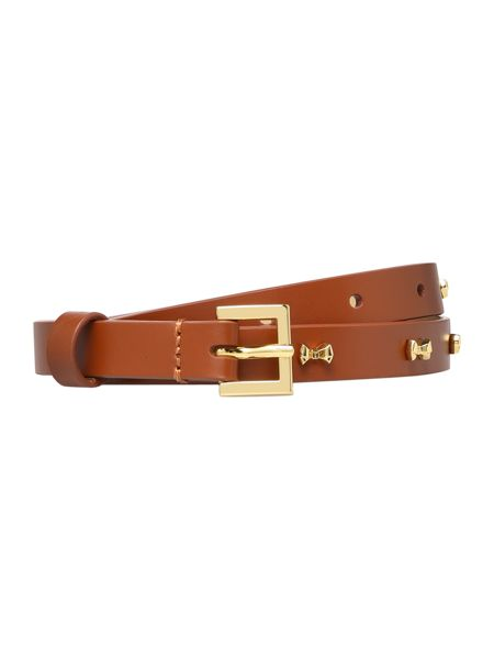 Ted Baker Aileen brown micro bow belt