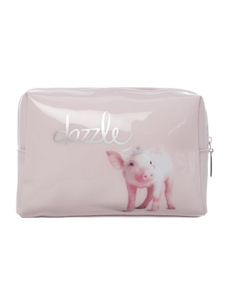 Catseye Pink dazzle large beauty bag