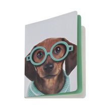 Catseye Multi glasses dog notebook