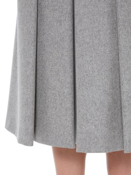 Max Mara Accenni wool pleated skirt