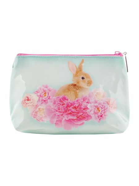 Catseye Blue bunny on flower small bag