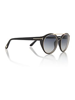 Black rectangle FT0383 01W sunglasses