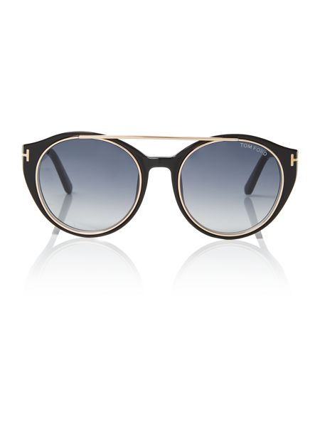 Tom Ford Sunglasses Black rectangle FT0383 01W sunglasses